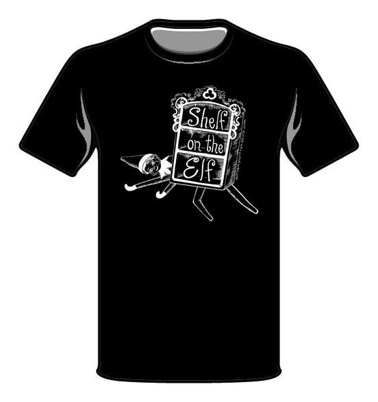 Shelf on the Elf T-Shirt - Black