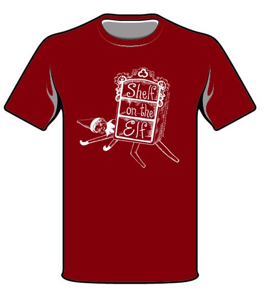 Shelf on the Elf T-Shirt - Burgundy