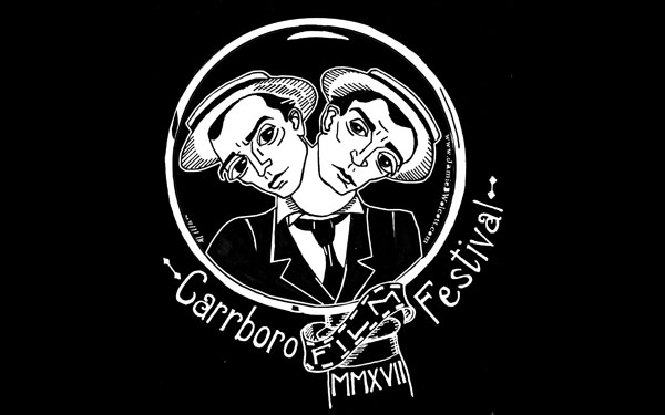 Buster Keaton shirt design for the Carrboro Film Festival
