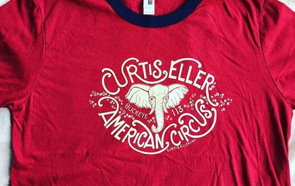 Curtis Eller's American Circus ringer tee