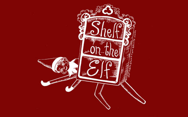 Shelf on the Elf shirt for the holiday season